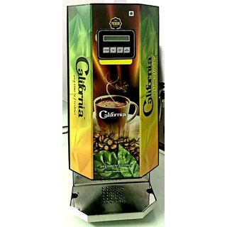 California Premium 2 Lane/Option Tea Coffee Vending Machine (Black)