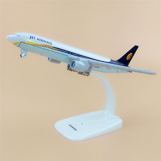 1 Ratio 300 Jet Airways Boeing 777-35R Scale Metal Model Aircraft, Highly Detailed Souvenir Model Aircraft Collection