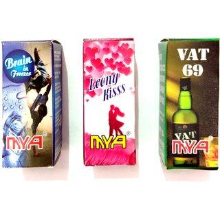 Pen hookah liquid brain in freeze + leony kiss + vat 69 flavour triple combo