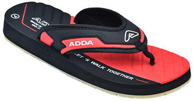 ADDA COMFORTABLE BLACK/RED COLOR FLIPFLOPS FOR MEN