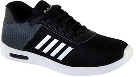 Zappy Men Black  Grey Sports Shoes