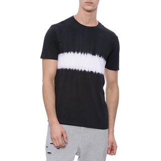 9b0cef073a0 Buy Deezeno Men s Black Tie and Dye Round Neck Half Sleeves T-Shirt ...