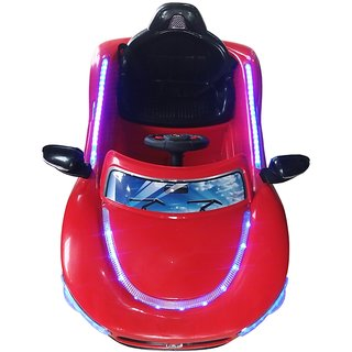 Oh Baby, Baby Battery Operated LED Light Car Red Color With Remote Control Music Connectivity For Your Kids SE-BOC-06