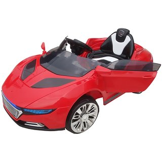 OhBaby Battery Operated Red  Audi Car Color With Remote Control And Mobile Music Connectivity