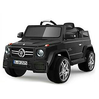 Oh Baby, Baby Battery Operated BLACK Color Jeep With Key Start USB Connectivity For Music For Your Kids SE-BOC-12