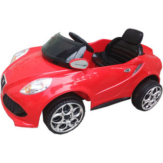 Oh Baby, Baby Battery Operated Car Red Color With Remote Control And Mobile Music Connectivity For Your Kids SE-BOC-13