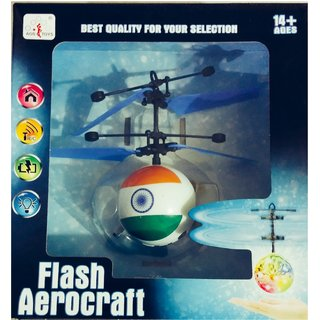 SILVOSWAN Independence Day Special Sensor / Flying Ball Helicopter with Indian Flag