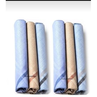 100 cotton handkerchief for men set of 6
