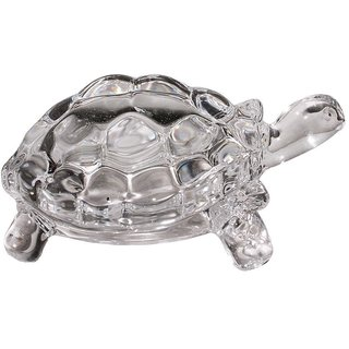 Feng Shui Clear Crystal Turtle Vaastu Gift Career  Luck Tortoise 3cm