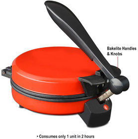 EAGLE ELECTRIC AUTOMATIC ROTI MAKER / KHAKHRA MAKER IN RED COLOUR