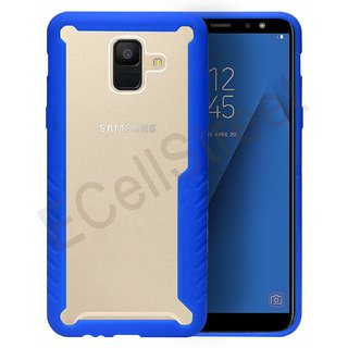 ECellstreet Slim Clear Shockproof Anti Scratch Protective Soft Tough Bumper TPU Back Cover Case for Samsung Galaxy A6 (5.6 inch 2018 Edition) - Blue