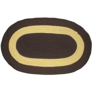 Easy Shop Jute cotton Mix Door Mat Oval Shape Floor Mat  Set of 6 Pc
