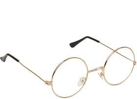 Arzonai Golden Gandhi Round UV Protection Sunglasses For Men & Women [MA-300-S2 ]