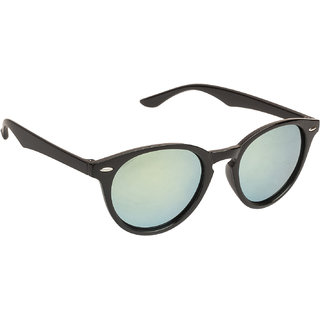 3bb35074c6b2e Buy Arzonai Black Target Oval UV Protection Sunglasses For Men   Women   MA-303-S4   Online - Get 75% Off