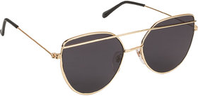 Arzonai Golden Hayes Square UV Protection Sunglasses For Men & Women [MA-034-S11 ]
