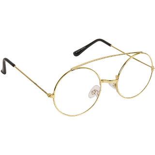 Arzonai Golden Gandhi Round UV Protection Sunglasses For Men & Women [MA-304-S4 ]