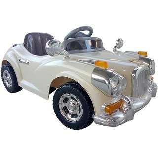Oh Baby, Baby Battery Operated ROLLS ROYCE -1940 Car CREAM Color Mobile Music Connectivity For Your Kids SE-BOC-29