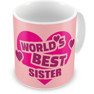 Indigifts Rakshabandhan Gift For Sister Coffee Mug Ceramic Pink 330 Ml Set Of 1