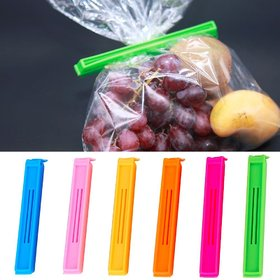 Goldcave Multicolor Plastic Clip For Sealing Food Snack Bag Pouch 6 Pieces