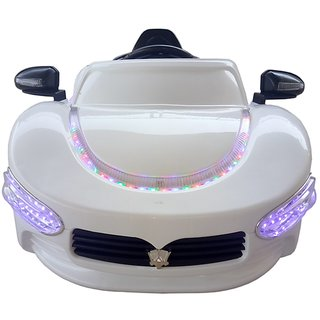 Oh BabyBaby Battery Operated LED Light FARARI Car WHITE Color Mobile Music Connectivity For Your Kids SE-BOC-32