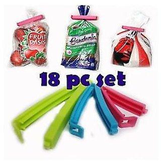 Goldcave Plastic Multi color Set of 12 Bag Clips Food Snack Bag Pouch Clip Sealer