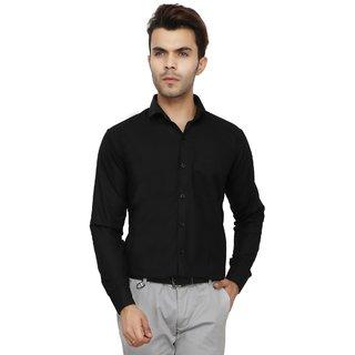 Bajson Men's Black Plain Regular Fit Formal Shirt