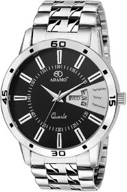 ADAMO Designer Day Date Mens Wrist Watch A820SM02