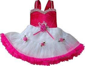 Kids girl frock dress for baby Girl's velvet Party Wear Frock Dress