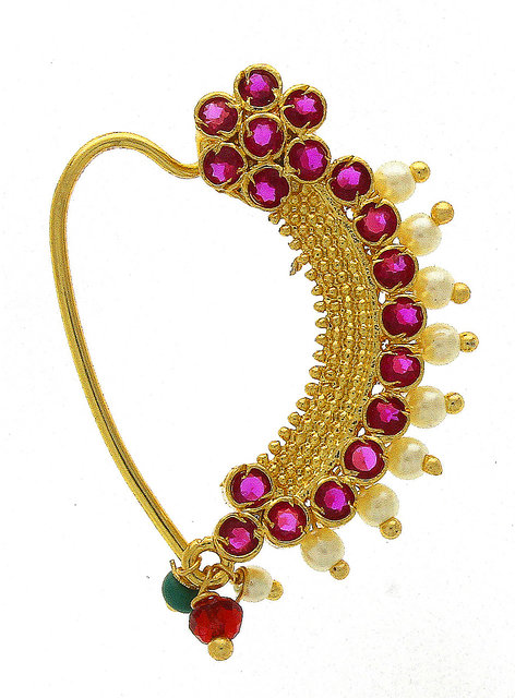 Anuradha Art Magenta Colour Droplet Shape Trendy Party Wear Designer Oxidised Long Earrings For Women//Girls