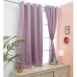 Cliths Both Sided Rosy Brown Room Darkening Blackout Curtains-Two Panels (V.LongDoor- 4.5 x 10 ft)