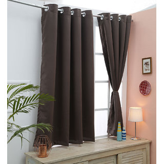 Cliths Dark Grey 2 Panel Dark Grey Blackout Curtains For All Sizes (LongDoor- 4.5 x 9 ft)