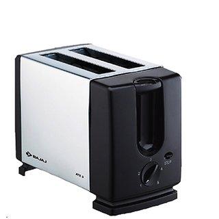 Bajaj Majesty ATX 3 750 W Pop Up Toaster (Silver and black)