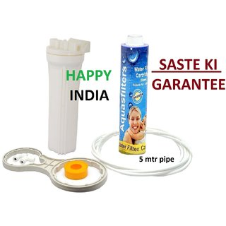 10'' Pre Filter Housing/Standard Size with Thread Candal, For  RO / UV / Water Purifier Filter (Isasse Sasta Aur Kaha)
