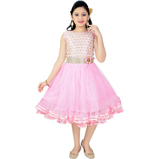 Saarah Pink Dress For Girls