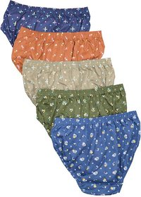 PACK OF (4) LADY WORLD WOMEN SOFT  COTTON INNER WEAR WITH FLOWER COATED  SECURE AND SAFE  MULTICOLOUR
