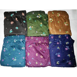 PACK OF 4 LADY WORLD PRINTED INNER WEAR FOR WOMEN SMOOTH AND SOFT