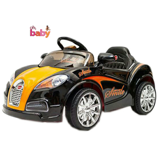 Oh Baby Battery Operated LED Light Car BLACK Color With Remote Control And Mobile Music Connectivity SE-BOC-58