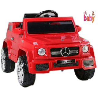 Oh Baby Battery Operated OFFICIAL LICENSED PRODUCT RED Color MERCEDES Jeep With Dual Door Opening SE-BOC-63