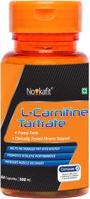 Novkafit L-Carnitine Tartrate - 60 Capsules (with Carnipure  High Quality L-Carnitine from Lonza, Switzerland)