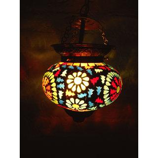 f4d76fbd115 Buy Multicolor Flower design Hanging Lamp Shade Decorative Glass Ceiling  Lamp pendant Online - Get 60% Off
