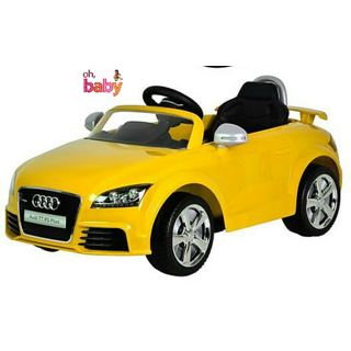 OhBaby Battery Operated yellow audi A4 Model Car Official Licensed Product For Your Kids