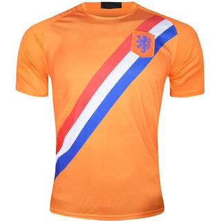 10df6816083 Buy Fifa World Cup Netherland Orange Colour National Team Jersey Online -  Get 40% Off