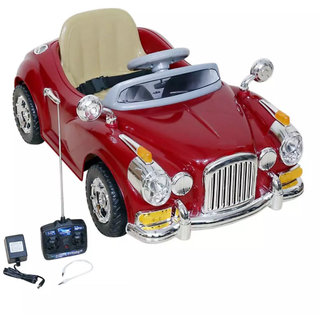 Oh  Baby Battery Operated ROLLS ROYCE -1940 Car MAHROON Color With  Mobile Music Connectivity For Your Kids SE-BOC-83
