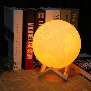 3D Printed Earth Lamp/ Multicolor Earth Globe Lamp/LED Lamp/Lighting Color(White Warm White Yellow) LAMP/14cm