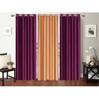 Premium furnishing plain patta door curtain ( LxW 213cm X 122cm)