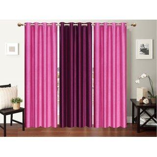 Premium furnishing plain patta door curtain ( LxW 213cm X 122cm)