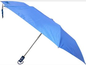 EXCLUSIVE 3 Fold Blue Nylon Cloth Umbrella