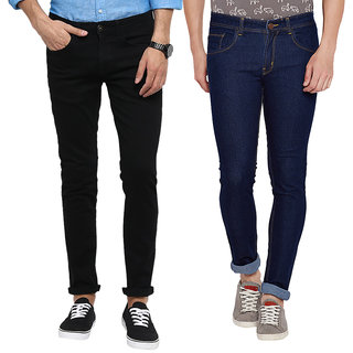 0d86279904 Buy Stylox Men's Multicolor Slim Fit Jeans (Pack of 3) Online - Get ...