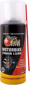 Euro Gold MotorBike Chain Maintance Spray (Clean, Protect, Smoothing, Displaces Moisture)