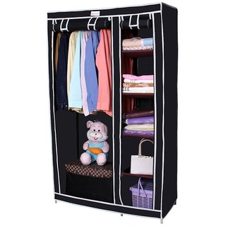 Novatic High Capacity Metal Frame Collapsible Wardrobe